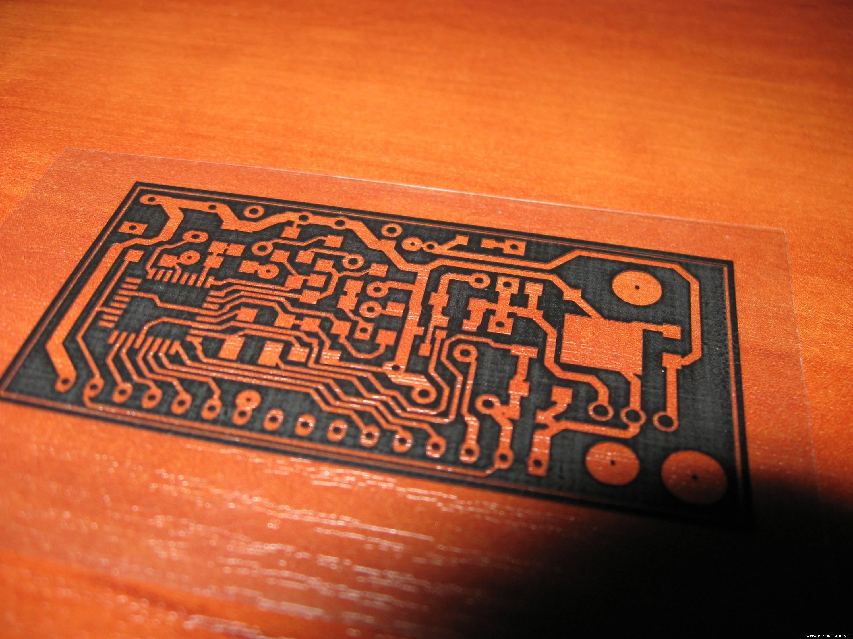 Печать на пленке для проявления фоторезиста
