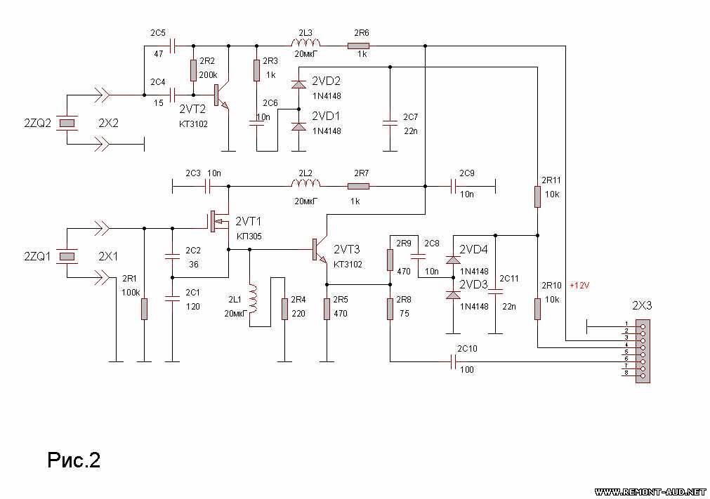 Схема модуля для проверки