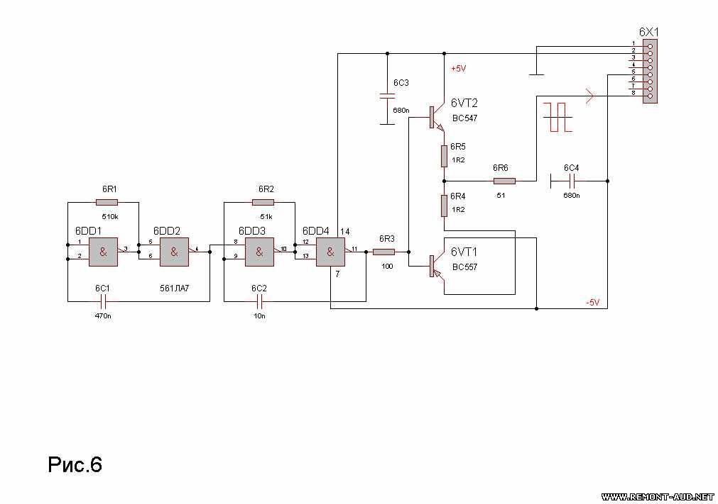 Схема модуля генераторов.
