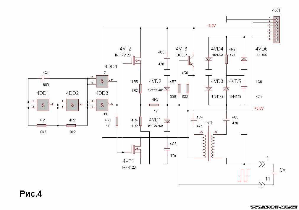 Схема модуля для измерения ESR