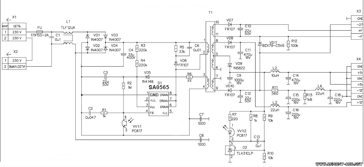 At3263 схема включения